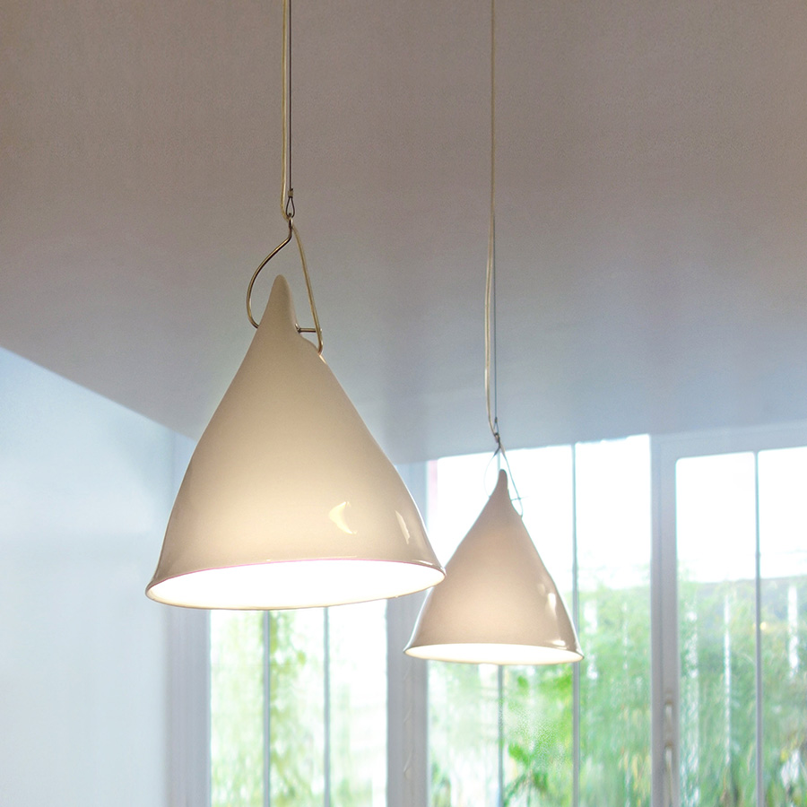 TSE TSE Cornet Glazed Porcelain Suspension