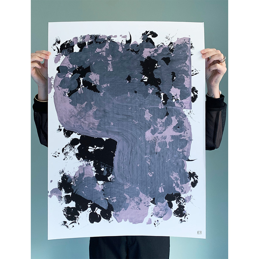 EVA HJELTE Black Poem  Art Print